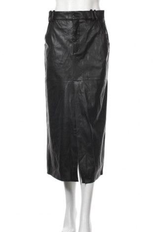 Fustă de piele Zara, Mărime M, Culoare Negru, Piele ecologică, Preț 292,76 Lei