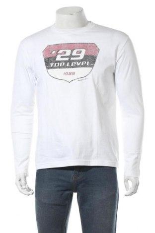 Мъжка блуза Angelo Litrico, Размер M, Цвят Бял, Памук, Цена 6,38лв.