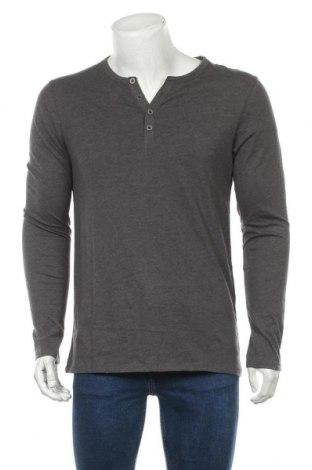 Мъжка блуза Pier One, Размер M, Цвят Сив, 60% памук, 40% полиестер, Цена 27,93лв.