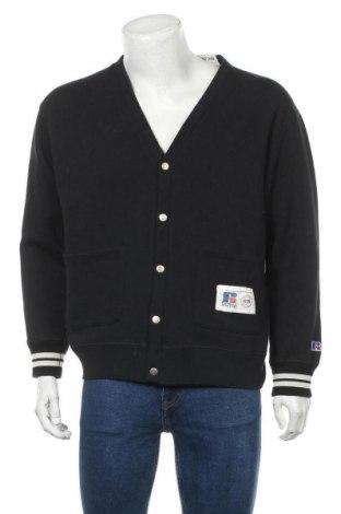 Мъжка жилетка Russell Athletic, Размер L, Цвят Черен, 70% памук, 30% полиестер, Цена 41,40лв.