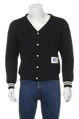 Мъжка жилетка Russell Athletic, Размер S, Цвят Черен, 70% памук, 30% полиестер, Цена 38,40лв.