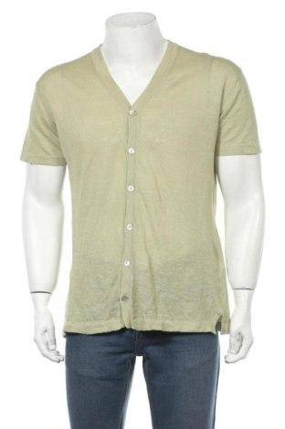 Мъжка жилетка Zara, Размер M, Цвят Зелен, 62% лен, 38% памук, Цена 35,04лв.