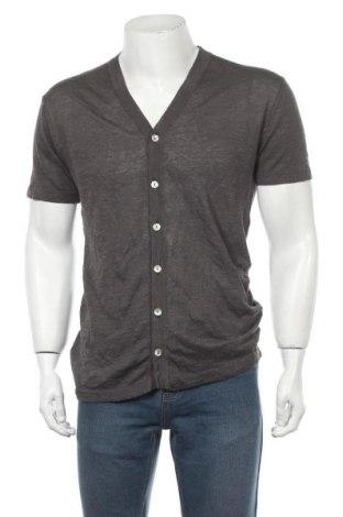 Мъжка жилетка Zara, Размер M, Цвят Сив, 62% лен, 38% памук, Цена 40,88лв.