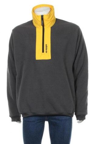 Bluză polară de bărbați Adidas Originals, Mărime L, Culoare Gri, Poliester, Preț 244,25 Lei