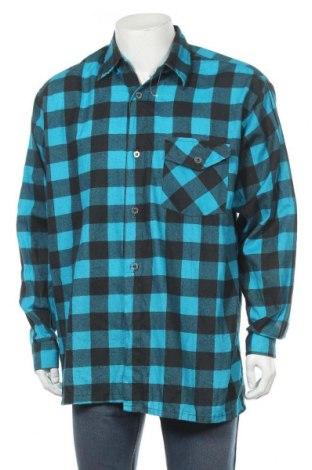 Мъжка риза, Размер L, Цвят Син, 60% памук, 40% полиестер, Цена 36,00лв.
