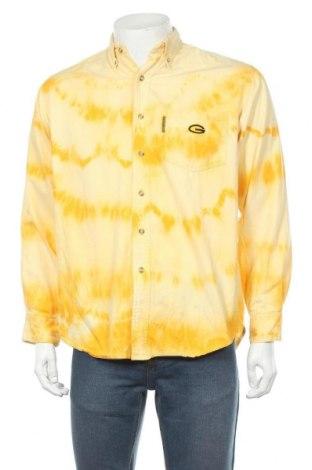 Мъжка риза, Размер M, Цвят Жълт, Памук, Цена 36,00лв.