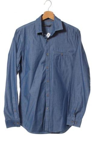 Мъжка риза Angelo Litrico, Размер S, Цвят Син, Памук, Цена 9,45лв.