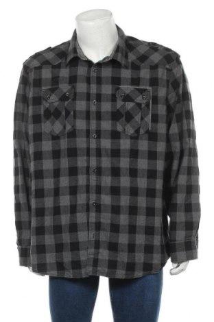Мъжка риза Angelo Litrico, Размер 3XL, Цвят Сив, Памук, Цена 12,97лв.