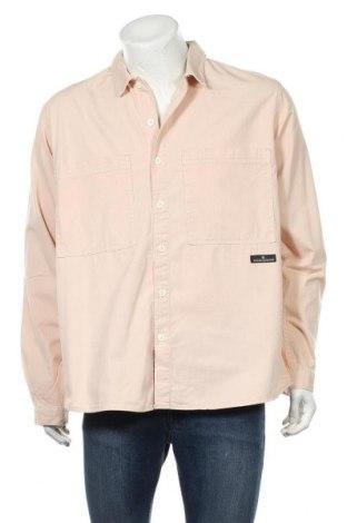 Мъжка риза BDG, Размер L, Цвят Розов, Памук, Цена 59,25лв.