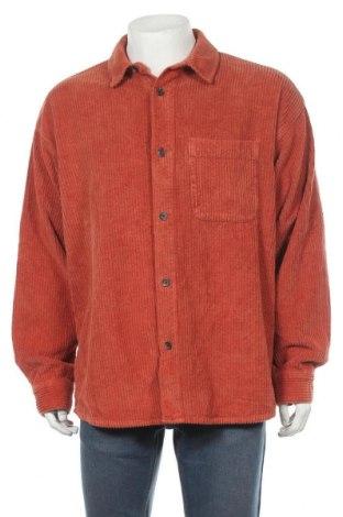Мъжка риза BDG, Размер L, Цвят Оранжев, Памук, Цена 56,00лв.