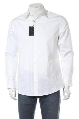 Мъжка риза Cortefiel, Размер M, Цвят Бял, Памук, Цена 33,12лв.
