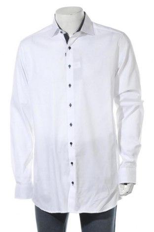 Мъжка риза Eterna, Размер L, Цвят Бял, Памук, Цена 45,82лв.