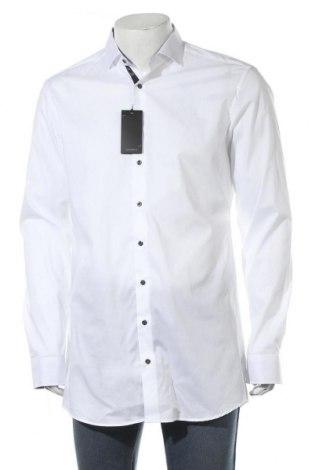 Мъжка риза Eterna, Размер L, Цвят Бял, 97% памук, 3% еластан, Цена 43,45лв.