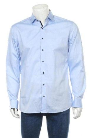 Мъжка риза Eterna, Размер L, Цвят Син, 97% памук, 3% еластан, Цена 40,02лв.