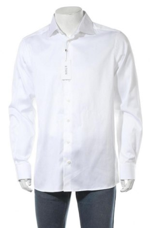 Ανδρικό πουκάμισο Eton, Μέγεθος L, Χρώμα Λευκό, Βαμβάκι, Τιμή 38,27€