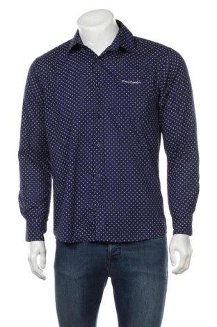 Мъжка риза Pierre Cardin, Размер S, Цвят Син, 65% полиестер, 35% памук, Цена 25,20лв.
