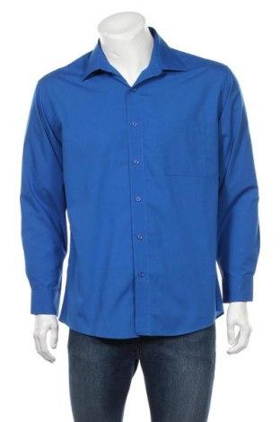 Мъжка риза Pierre Cardin, Размер L, Цвят Син, 55% памук, 45% полиестер, Цена 25,35лв.