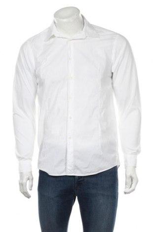 Мъжка риза Reiss, Размер M, Цвят Бял, Памук, Цена 36,00лв.