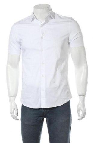 Ανδρικό πουκάμισο Topman, Μέγεθος S, Χρώμα Λευκό, 64% βαμβάκι, 32% πολυεστέρας, 4% ελαστάνη, Τιμή 20,88€