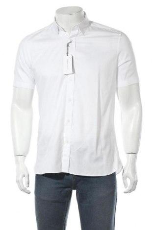 Мъжка риза Topman, Размер M, Цвят Бял, Памук, Цена 34,22лв.
