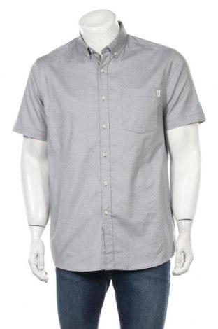 Мъжка риза Topman, Размер L, Цвят Сив, 97% памук, 3% еластан, Цена 30,16лв.