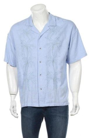Cămașă de bărbați Urban Outfitters, Mărime M, Culoare Albastru, 55% in, 45% viscoză, Preț 194,90 Lei