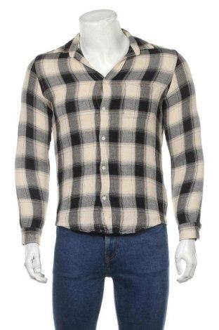 Мъжка риза Zara, Размер S, Цвят Бежов, 50% памук, 50% вискоза, Цена 5,14лв.