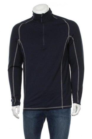 Мъжка спортна блуза Active By Tchibo, Размер S, Цвят Син, 95% полиестер, 5% еластан, Цена 16,96лв.