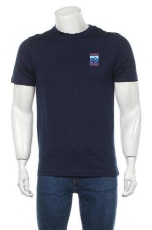 Мъжка тениска Adidas, Размер S, Цвят Син, 100% памук, Цена 51,75лв.