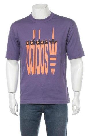 Мъжка тениска Adidas Originals, Размер S, Цвят Лилав, Памук, Цена 46,92лв.