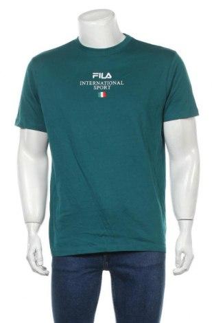 Tricou de bărbați Fila, Mărime M, Culoare Verde, Bumbac, Preț 120,89 Lei