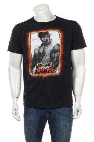 Мъжка тениска Gildan, Размер L, Цвят Черен, Памук, Цена 19,50лв.