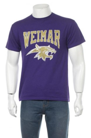 Мъжка тениска Gildan, Размер M, Цвят Лилав, 50% памук, 50% полиестер, Цена 16,50лв.