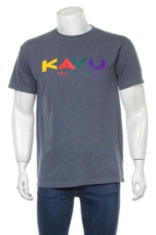 Мъжка тениска Kavu, Размер M, Цвят Син, Памук, Цена 46,00лв.