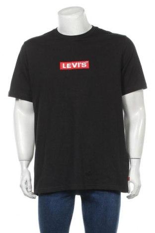 Мъжка тениска Levi's, Размер L, Цвят Черен, Памук, Цена 59,00лв.