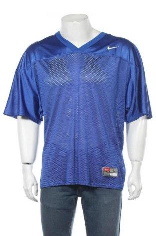 Мъжка тениска Nike, Размер L, Цвят Син, Полиамид, Цена 33,75лв.
