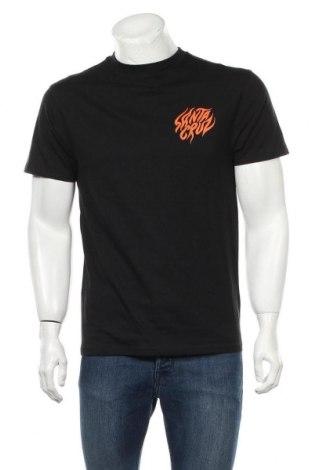 Мъжка тениска Santa Cruz, Размер M, Цвят Черен, 100% памук, Цена 44,25лв.