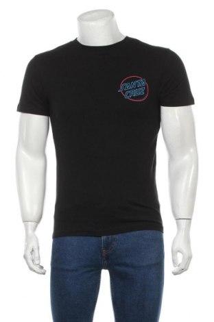 Мъжка тениска Santa Cruz, Размер S, Цвят Черен, Памук, Цена 44,25лв.
