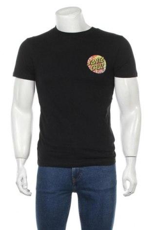 Мъжка тениска Santa Cruz, Размер S, Цвят Черен, Памук, Цена 31,50лв.