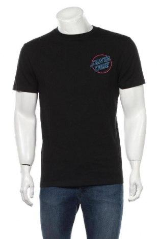 Мъжка тениска Santa Cruz, Размер M, Цвят Черен, Памук, Цена 42,00лв.