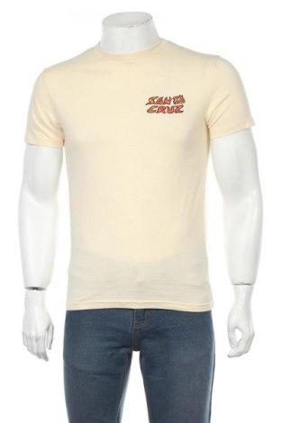 Мъжка тениска Santa Cruz, Размер S, Цвят Екрю, Памук, Цена 49,00лв.