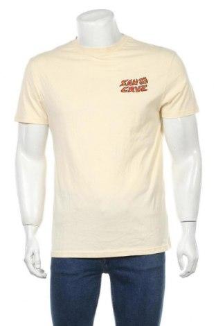 Мъжка тениска Santa Cruz, Размер M, Цвят Бежов, Памук, Цена 59,00лв.