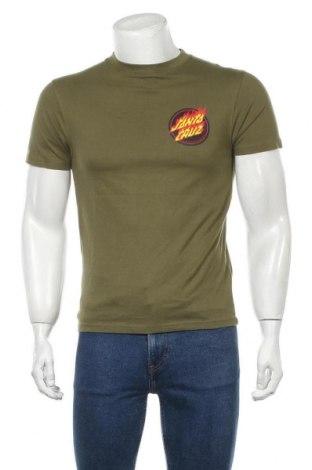 Мъжка тениска Santa Cruz, Размер S, Цвят Зелен, Памук, Цена 42,00лв.