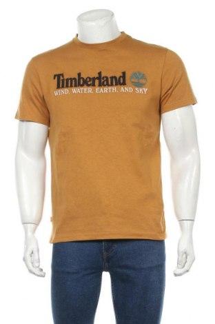 Мъжка тениска Timberland, Размер S, Цвят Кафяв, Памук, Цена 57,67лв.