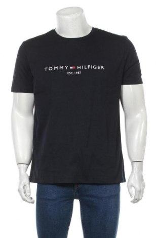 Pánské tričko  Tommy Hilfiger, Velikost XL, Barva Modrá, Bavlna, Cena  836,00Kč