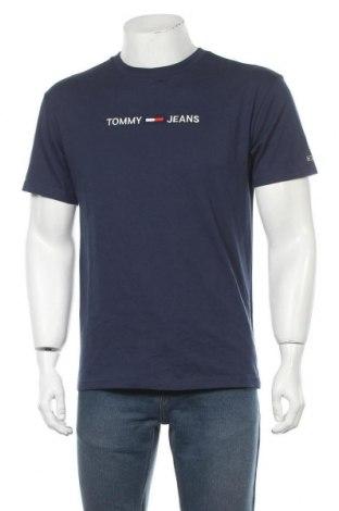 Мъжка тениска Tommy Hilfiger, Размер S, Цвят Син, Памук, Цена 57,67лв.