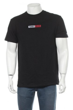 Мъжка тениска Tommy Hilfiger, Размер M, Цвят Черен, Памук, Цена 79,00лв.