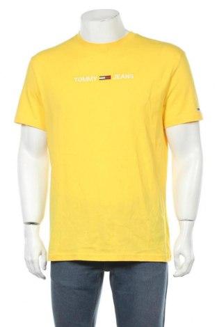 Мъжка тениска Tommy Hilfiger, Размер M, Цвят Жълт, Памук, Цена 79,00лв.