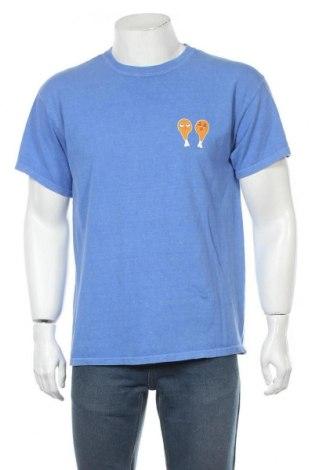 Мъжка тениска Urban Outfitters, Размер S, Цвят Син, Памук, Цена 12,98лв.
