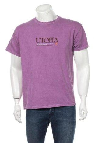 Мъжка тениска Urban Outfitters, Размер S, Цвят Лилав, Памук, Цена 44,25лв.